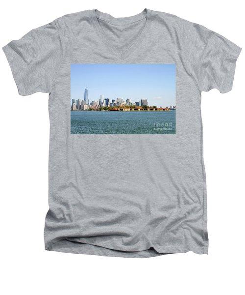 Ellis Island New York City Men's V-Neck T-Shirt