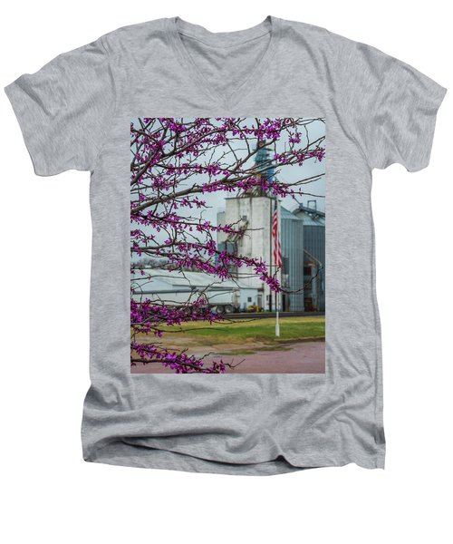 Men's V-Neck T-Shirt featuring the photograph Ellsworth Blooms by Darren White