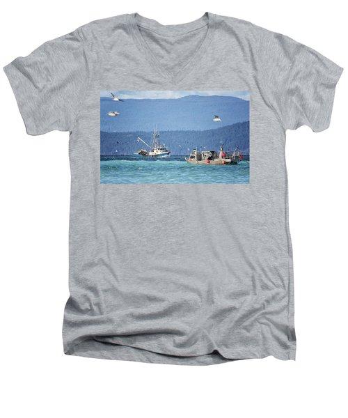 Elora Jane Men's V-Neck T-Shirt by Randy Hall