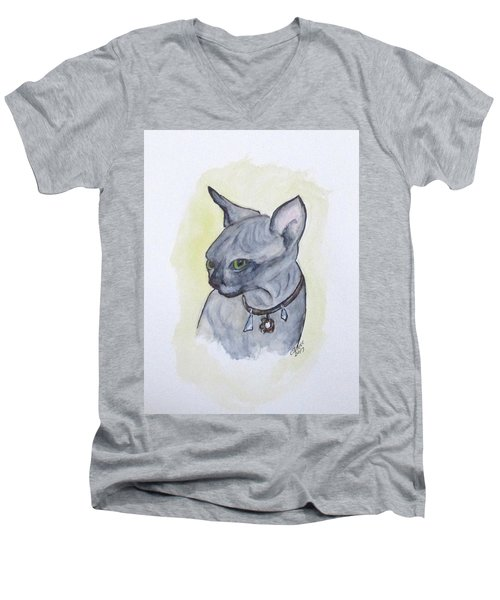 Else The Sphynx Kitten Men's V-Neck T-Shirt