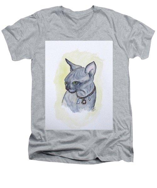 Else The Sphynx Kitten Men's V-Neck T-Shirt