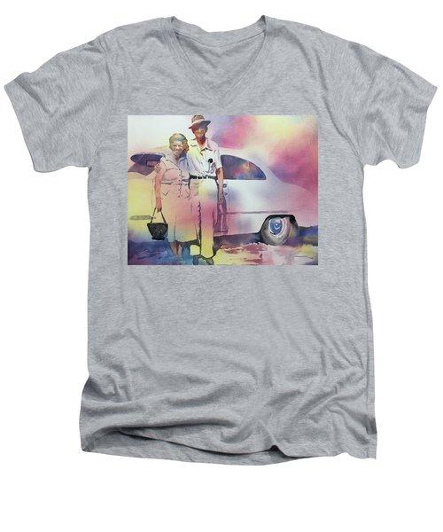 Elsie And Barney Shields Men's V-Neck T-Shirt