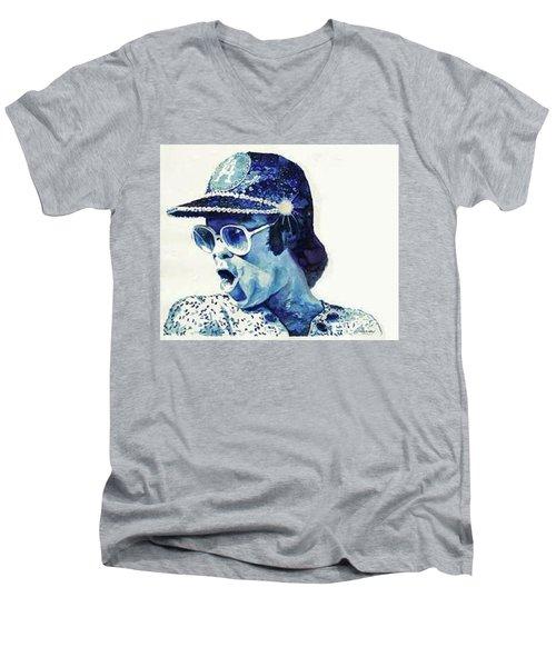 Elton John Men's V-Neck T-Shirt