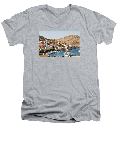 Emborio Village On Halki Men's V-Neck T-Shirt