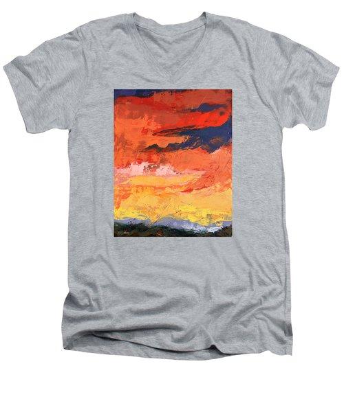Embrace Men's V-Neck T-Shirt by Nathan Rhoads