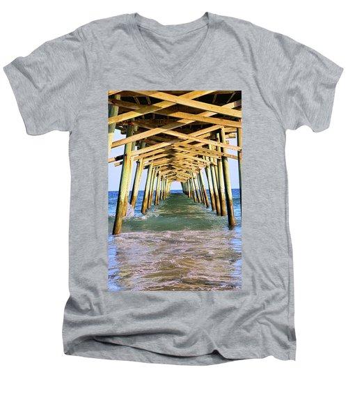 Emerald Isles Pier Men's V-Neck T-Shirt
