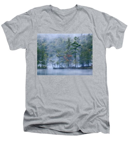 Emerald Lake In Fog Emerald Lake State Men's V-Neck T-Shirt