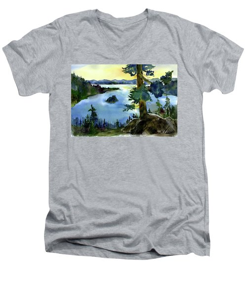 Emerald Morn, Lake Tahoe Men's V-Neck T-Shirt