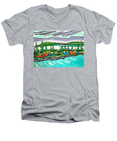 Emerald Sea Islands Men's V-Neck T-Shirt