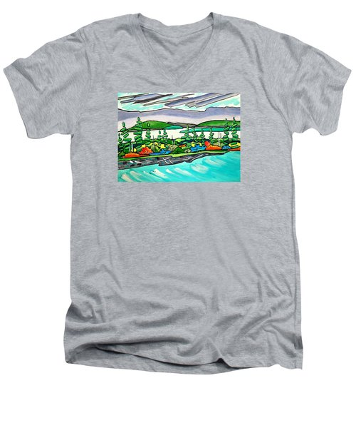 Emerald Sea Islands Men's V-Neck T-Shirt