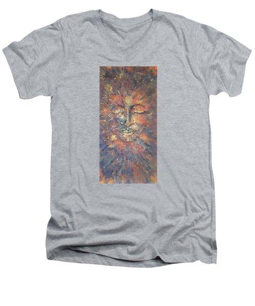 Emerging Buddha Men's V-Neck T-Shirt by Theresa Marie Johnson
