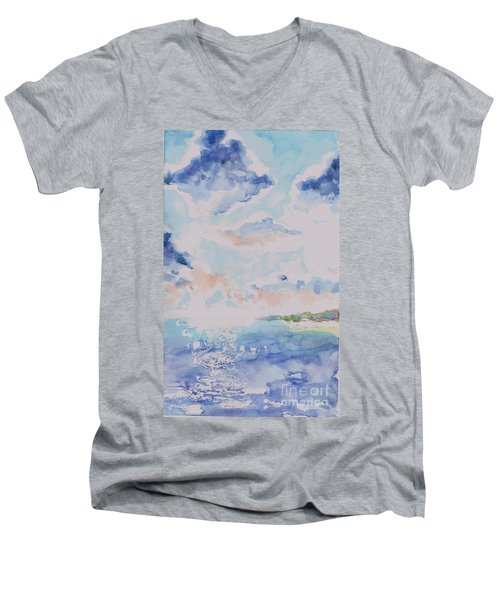 Emerging Sun 2 Men's V-Neck T-Shirt