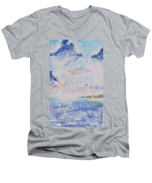 Emerging Sun 2 Men's V-Neck T-Shirt