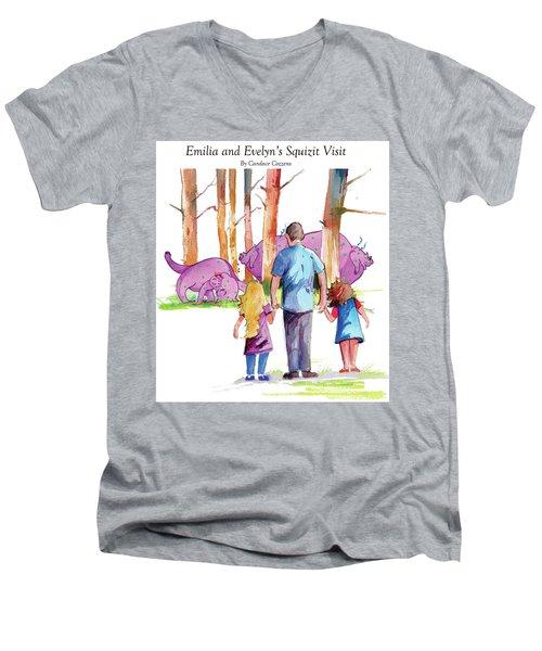 Emilia And Evelyn's Squizit Visit Men's V-Neck T-Shirt