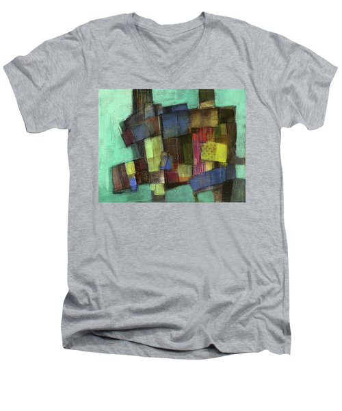 Colorful Men's V-Neck T-Shirt by Behzad Sohrabi