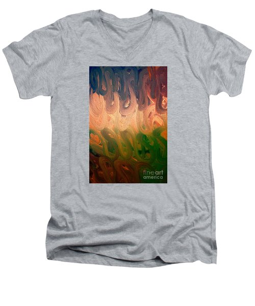 Emotion Men's V-Neck T-Shirt by Roberta Byram