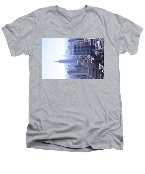 Empire State Building Men's V-Neck T-Shirt by Jeffson Chan