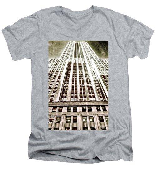 Empire State Building Men's V-Neck T-Shirt