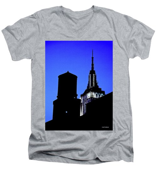 Empire State Building Men's V-Neck T-Shirt