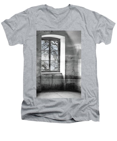 Men's V-Neck T-Shirt featuring the photograph Emptiness by Munir Alawi