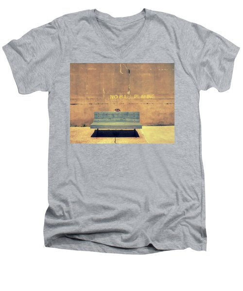 Empty Bench And Warning Men's V-Neck T-Shirt