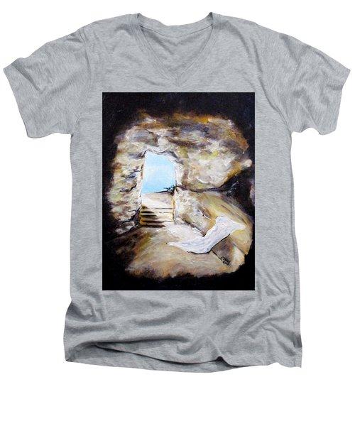 Empty Burial Tomb Men's V-Neck T-Shirt