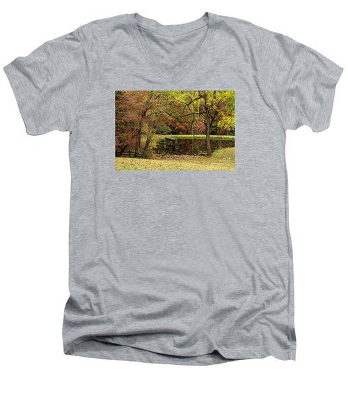 Empty Dock Men's V-Neck T-Shirt by Barbara Bowen