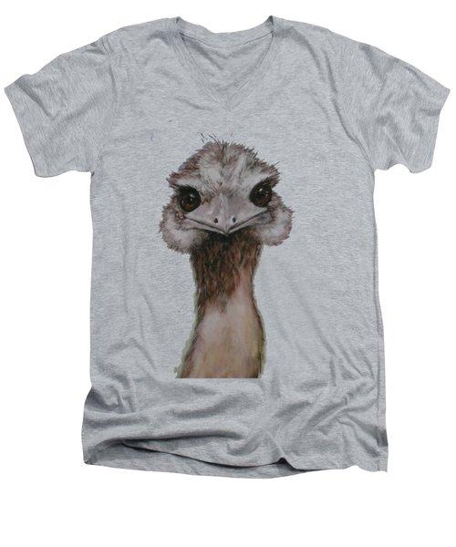 Emu Selfie Men's V-Neck T-Shirt