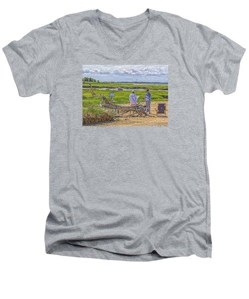 En Plein Air  Cape Cod Men's V-Neck T-Shirt