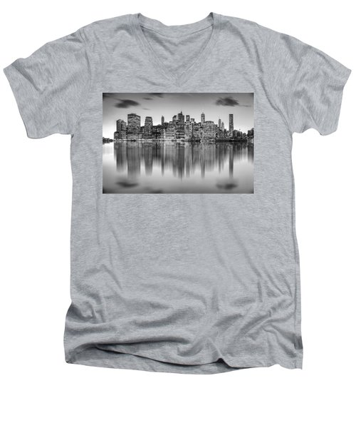 Enchanted City Men's V-Neck T-Shirt by Az Jackson