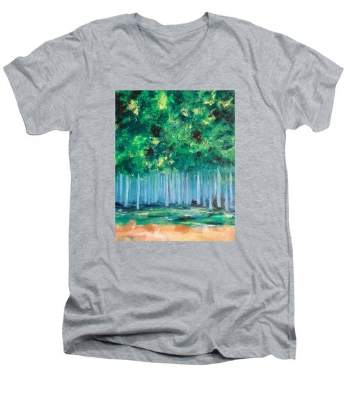 Enchanted Poplars Men's V-Neck T-Shirt