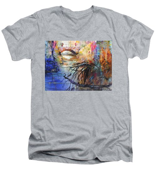 Enchanted Waters Men's V-Neck T-Shirt by P Anthony Visco