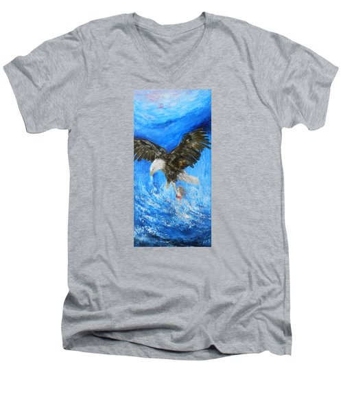 Men's V-Neck T-Shirt featuring the painting Enchantment by Jane See