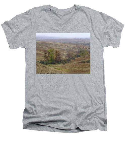 Enchantment Of The September Grasslands Men's V-Neck T-Shirt