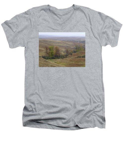 Enchantment Of The September Grasslands Men's V-Neck T-Shirt
