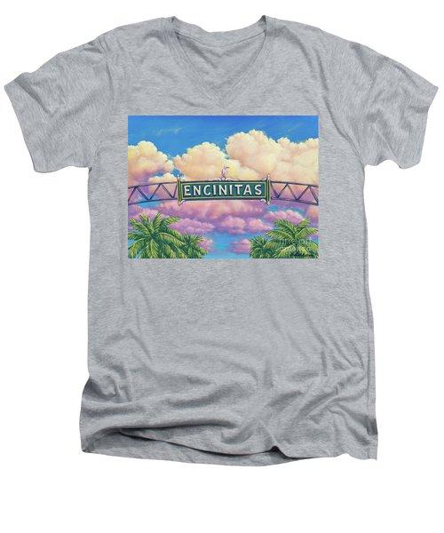 Encinitas Sunset Men's V-Neck T-Shirt