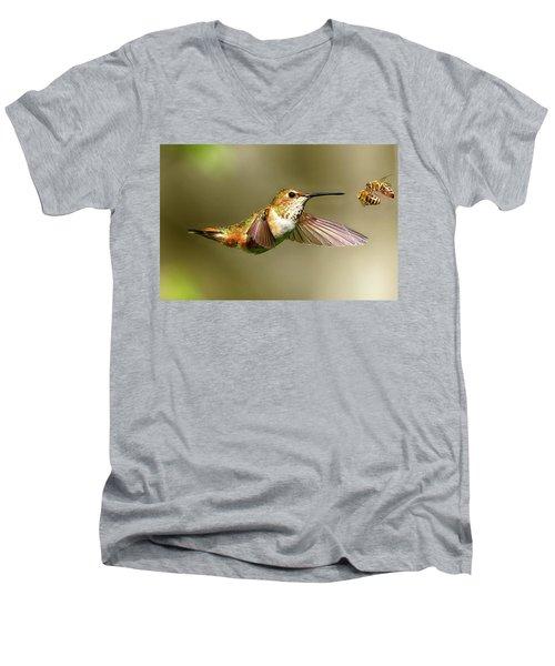 Encounter Men's V-Neck T-Shirt by Sheldon Bilsker