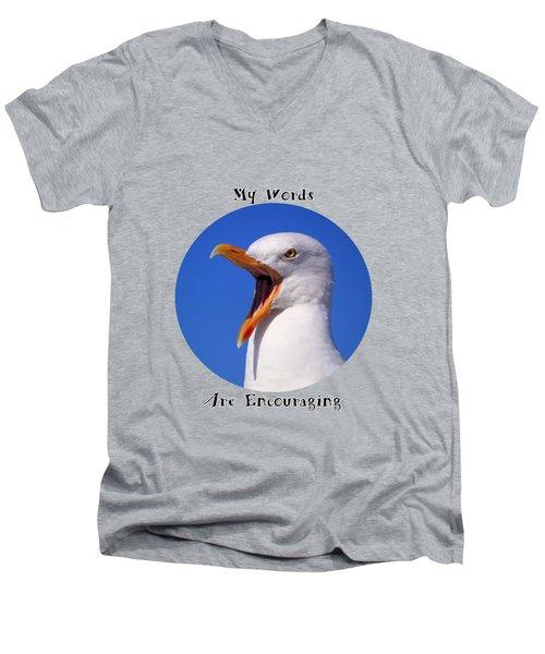 Encouraging Words Men's V-Neck T-Shirt