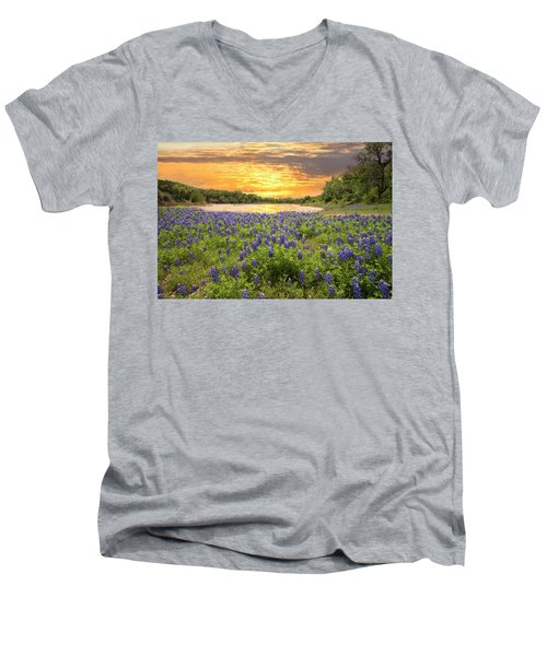 End Of A Bluebonnet Day Men's V-Neck T-Shirt