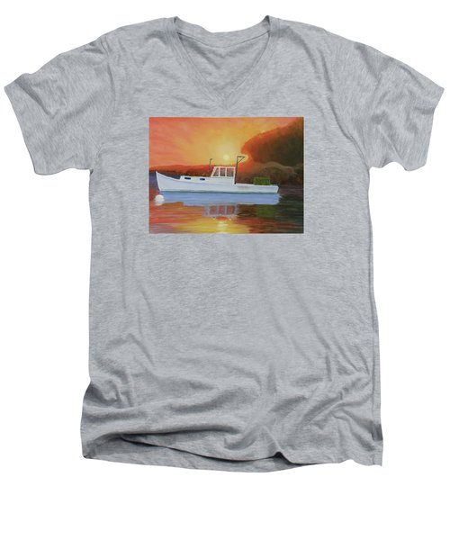 End Of A Work Day Men's V-Neck T-Shirt