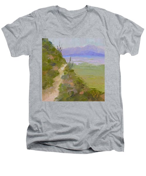 End Of Day At Gates Pass Men's V-Neck T-Shirt by Susan Woodward