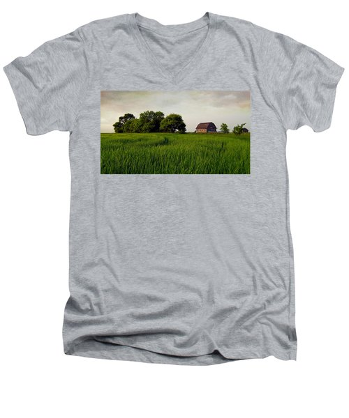 End Of Day Men's V-Neck T-Shirt by Keith Armstrong