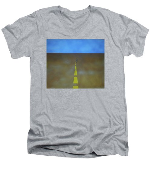 End Of The Line Men's V-Neck T-Shirt by Thomas Blood