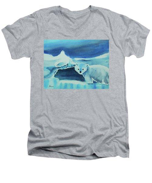 Endangered Bears Men's V-Neck T-Shirt
