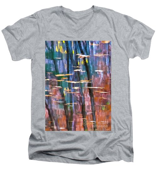 Men's V-Neck T-Shirt featuring the photograph Enders Reflection by Tom Cameron