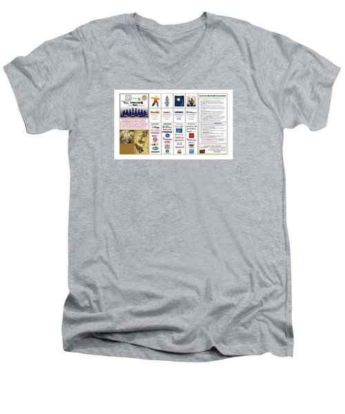 Endgames M And A Djia Men's V-Neck T-Shirt by Peter Hedding