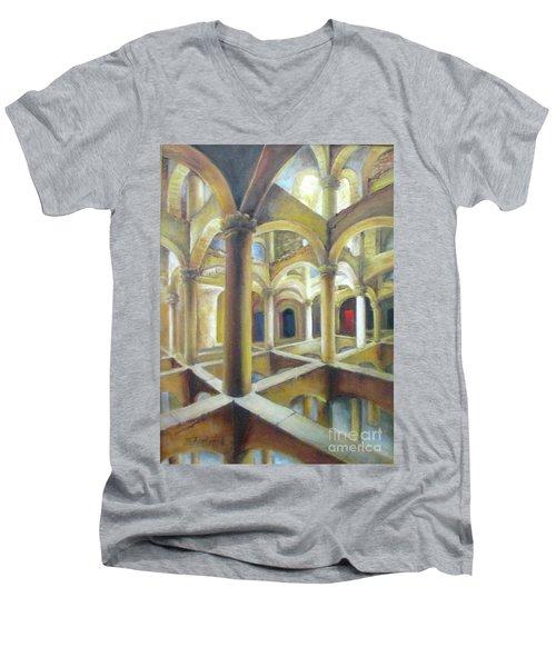 Endless Infinity Men's V-Neck T-Shirt by Oz Freedgood