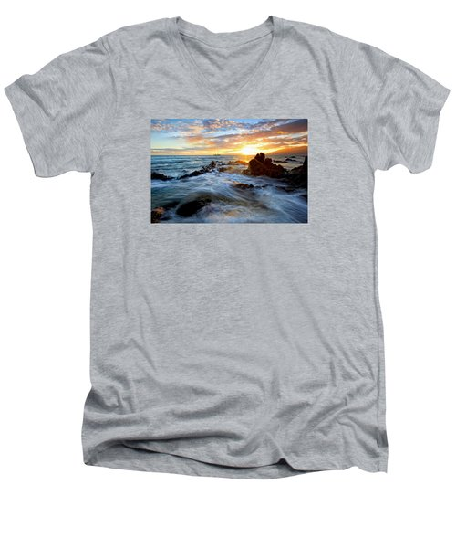 Endless Ocean Men's V-Neck T-Shirt by James Roemmling