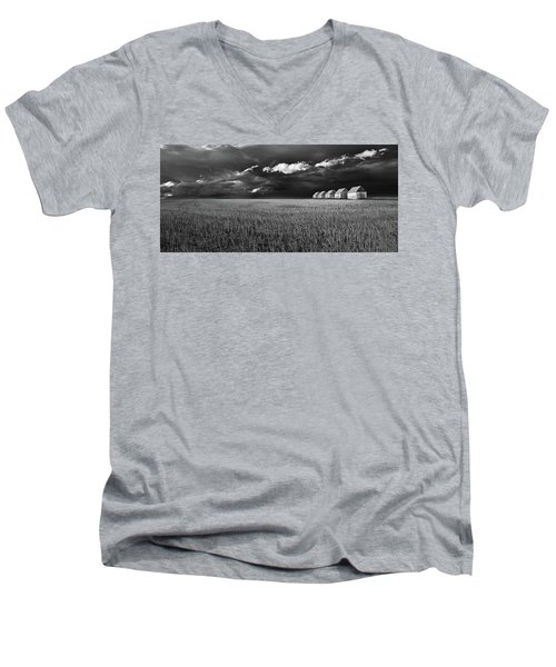 Men's V-Neck T-Shirt featuring the photograph Endless Sky by John Poon