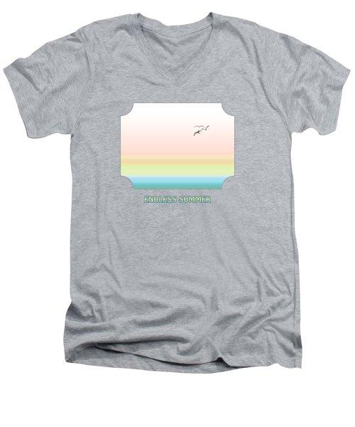 Endless Summer - Pink Men's V-Neck T-Shirt by Gill Billington